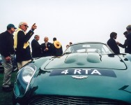 Aston Martin with fans