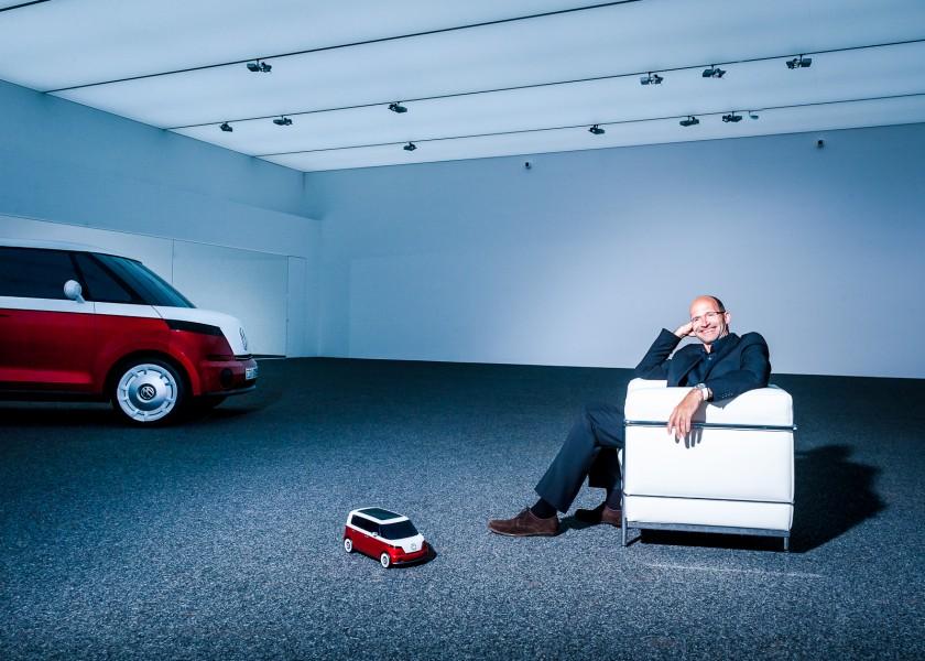 Klaus Bischoff at the VW Design center