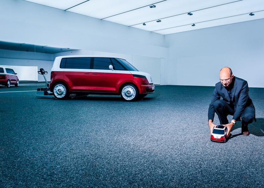 Klaus Bischoff starts the VW Micro Bus