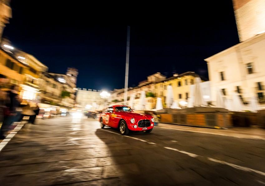 Ferrari at night, Mille Miglia
