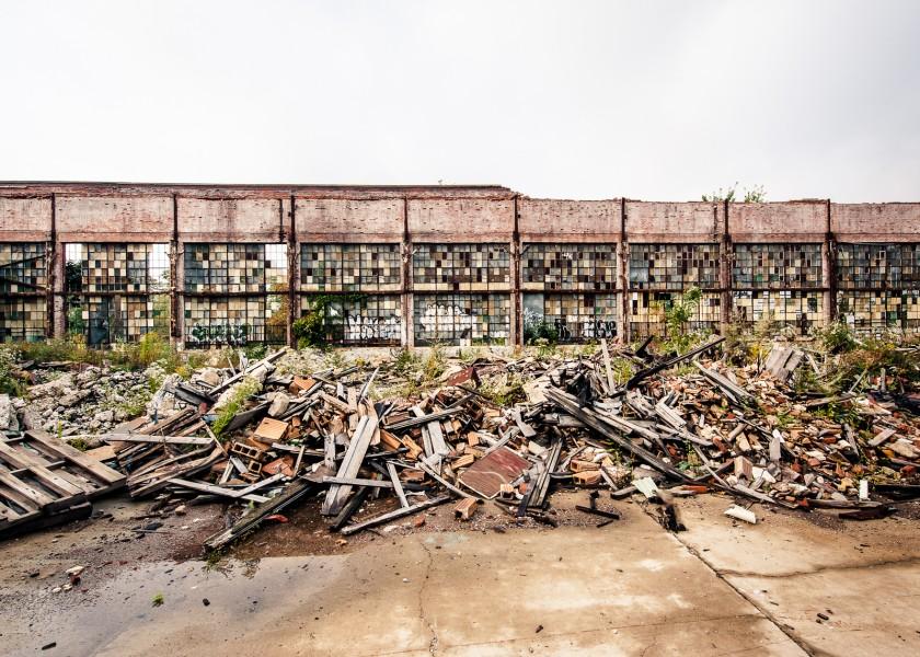 Packhard plant ruins