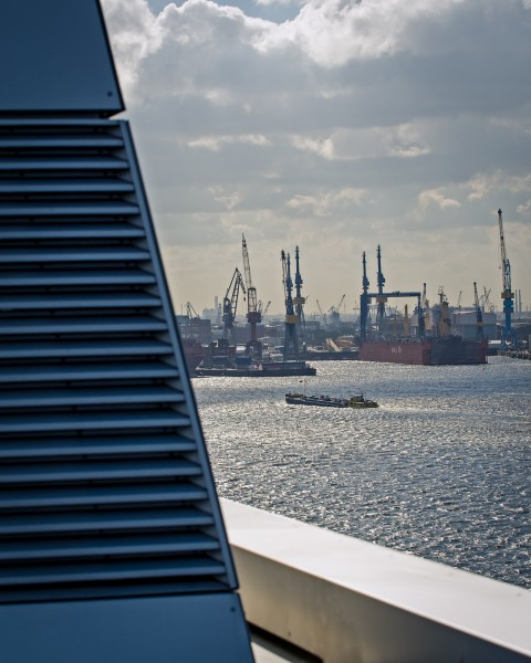 Dockland Hamburg harbour view